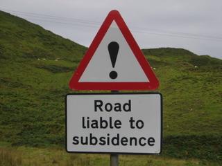 Roadsubsidence
